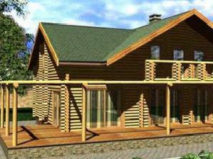 Проект гостевого дома с баней - чертеж + строительство